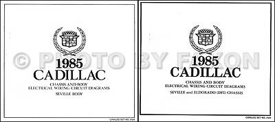 1985 Cadillac Seville Gas Wiring Diagram Set COLOR