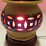 Crackled Brown Ceramic Electric Wax And Oil Warmer For Sale Online Ebay