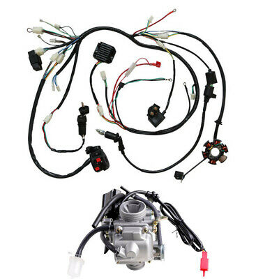 GY6 125cc 150CC Wiring Loom Harness Assembly + Carburetor