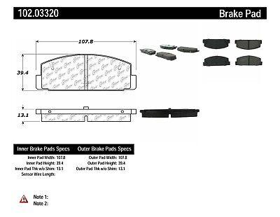 C-TEK Metallic Brake Pads fits 1984-2005 Mazda RX-7 6