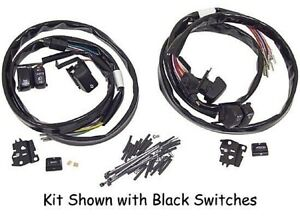 HANDLEBAR CHROME SWITCH 50'' WIRING KIT FOR HARLEY TOURING