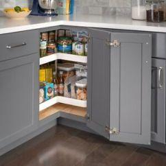 Kitchen Lazy Susan Ventilation Set Of Two 28 Diameter Base Cabinet Kidney Details About Shelves Pole