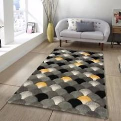 Yellow And Gray Rug For Living Room Design Ideas With Dark Furniture Modern Ochre Mustard Soft Warm Grey Image Is Loading