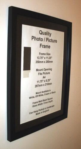 photo picture frame black fit14x19 14x20 14x21 14x22 14x23 14x24 mount a3 perpx frames home garden