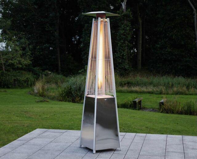 real flame pyramid outdoor gas regulator hose silver
