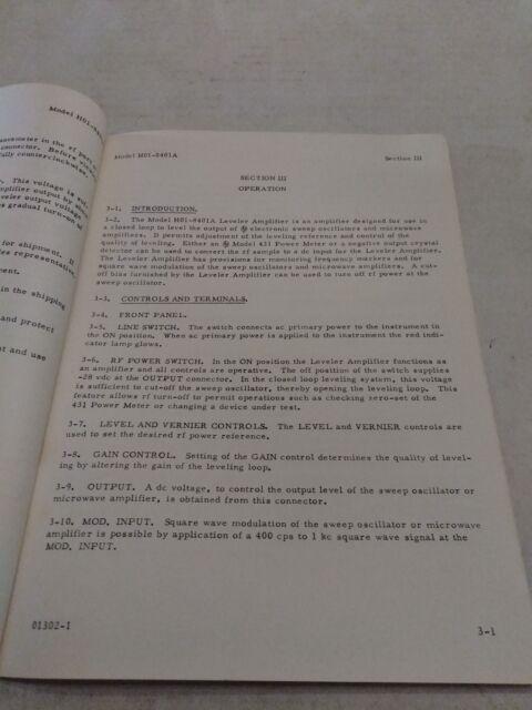 HEWLETT PACKARD MODEL H01-8401A LEVELER AMPLIFIER