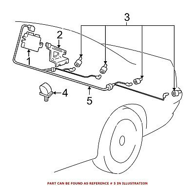 For BMW Genuine Parking Aid System Wiring Harness