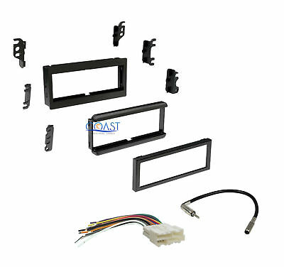 Car Stereo Single DIN Dash Kit Harness for 82-04 GMC