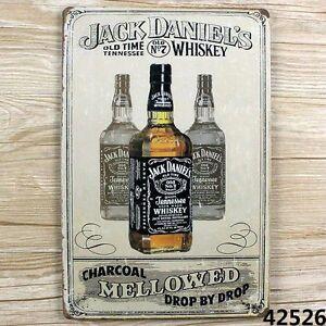 JACK DANIEL'S OLD vintage Tin Sign Bar pub home Wall Decor