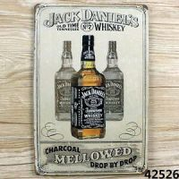 JACK DANIEL'S OLD vintage Tin Sign Bar pub home Wall Decor