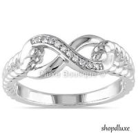 WOMEN'S 925 STERLING SILVER INFINITY KNOT FRIENDSHIP LOVE ...
