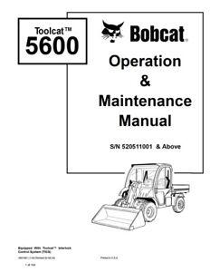 New Bobcat Toolcat 5600 Utility Vehicle Operation