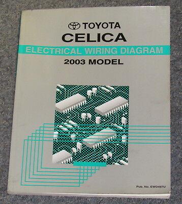 2003 toyota celica electrical wiring diagram service manual  ebay
