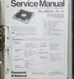 technics sl n5 original turntable turntable service manual wiring diagram [ 1062 x 1600 Pixel ]