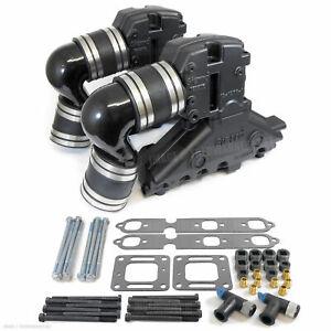 details about mercruiser v6 one piece exhaust manifold conversion 807293a2 807294a3 1996 2000