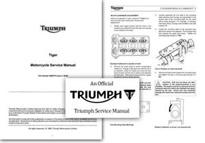 Triumph Tiger 900 Streamer T709 Service Workshop Repair