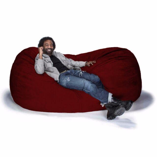jaxx bean bag chairs folding chair fabric sofa 10817 10818 color cinnabar ebay picture 8 of 14