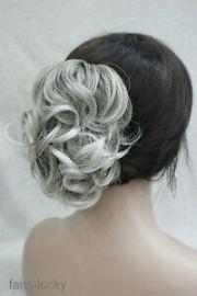 light gray mix short curly wavy