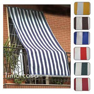 Generalmente le tende da esterni si utilizzano per ripararsi dal sole (tende da sole), ma in taluni. Tenda Da Sole Per Esterno In Tessuto Fasciato Resistente Con Anelli Ebay