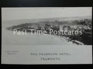 Details About Cornwall The Falmouth Hotel Old Promotional Postcard Manager C Duplessy