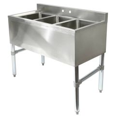 Commercial Kitchen Sink Big Island Three Compartment Stainless Steel Ebay