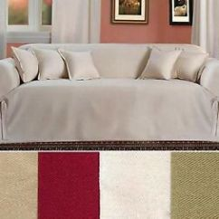 One Arm Sofa Slipcover Sofabed Gallery Hull All Cotton Brushed Twill Thick Fabric Piece Couch Image Is Loading