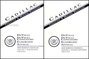 NEW 1995 Cadillac Shop Manual Set Deville Eldorado Seville
