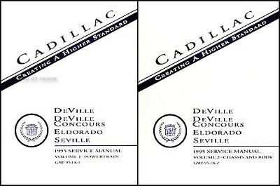 NEW 1995 Cadillac Shop Manual Set Deville Eldorado Seville