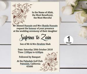 Muslim Wedding Invitations Mehndi