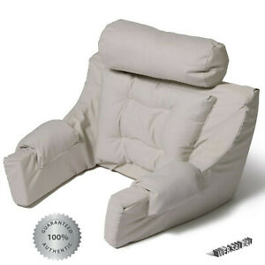 details about lounger pillow backrest cushion neck support bed rest back reading seat arm twil