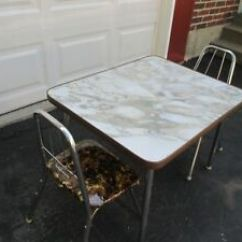 Retro Chrome Chairs Coca Cola Table And Set Vintage Mid Century Modern Kids Child Size Formica 2 Details About