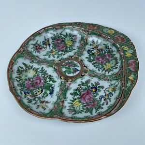 Anyique Chinese Rose Medallion Porcelain Shrimp Dish
