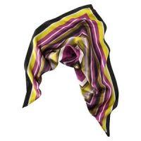 Missoni Target Women's Stripe Silk Scarf Purple 28x28 ...