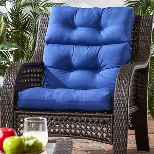 high back wicker chair cushions swivel spares patio cushion set of 2 furniture deep seat 44 image is loading