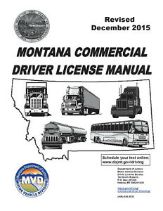 COMMERCIAL DRIVER MANUAL FOR CDL TRAINING (MONTANA) ON CD