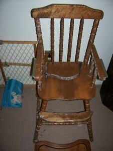 jenny lind rocking chair wedding cover hire cwmbran vintage wooden highchair high ebay image is loading