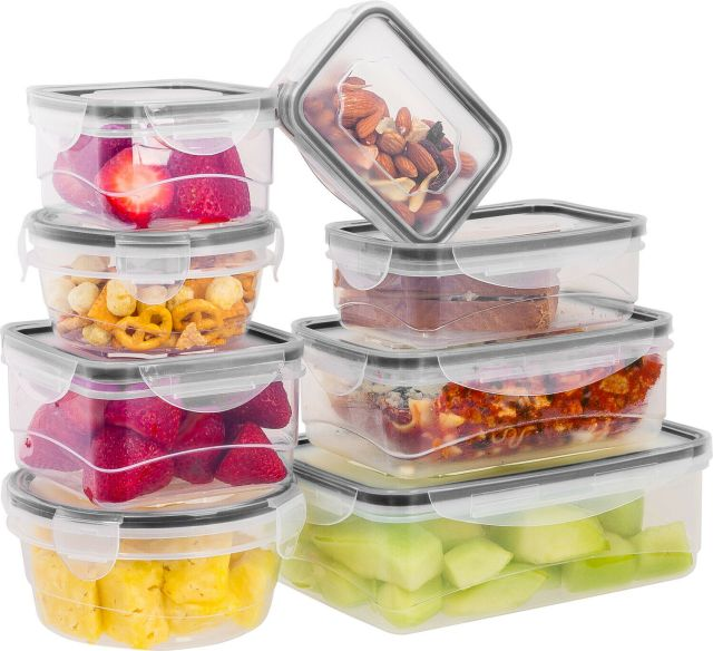 16 Pcs Plastic Food Storage Containers Set With Air Tight Locking Lids 2