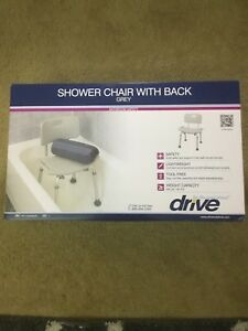 grey bathroom safety shower tub bench chair gym plus de 50 drive medical back new image is loading