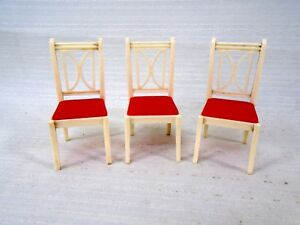 red kitchen chairs sinks and faucets 3 vintage ideal dollhouse furniture i 895 white chair image is loading