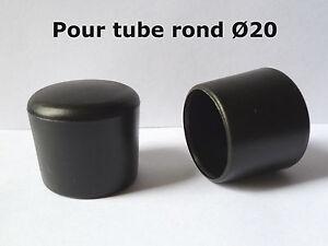 details sur 10 bouchons embouts enveloppant pour tube rond pied de chaise pvc noir o 20 mm