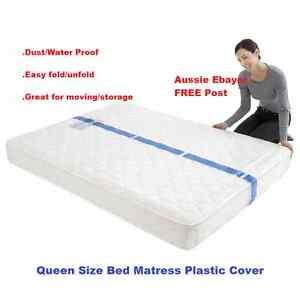 Image Is Loading Queen Size Bed Mattress Protect Plastic Cover Moving