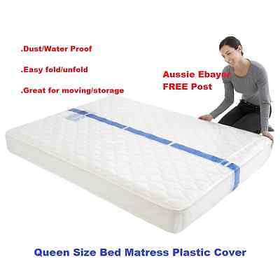 queen size bed mattress protect plastic cover moving storage bag free post ebay