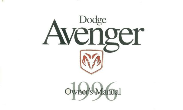 1996 Dodge Avenger Owners Manual User Guide Reference