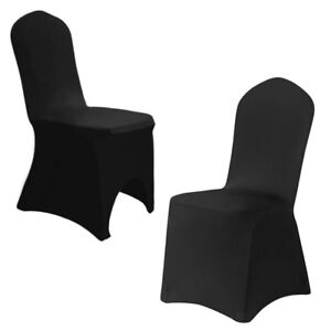 folding chair covers black bar top table and chairs 1 10 20 50 100 stretch spandex wedding details about party banquet