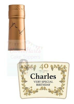 Custom Hennessy Label : custom, hennessy, label, HENNESSY, BOTTLE, LABEL, PERSONALISED, EDIBLE, PRINTED, ICING, DECORATION