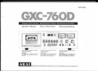 AKAI manuale di istruzioni user manual Owners Manual per