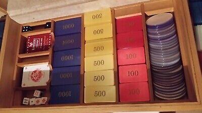 coffret luxe 510 jetons poker belote tarot ebay