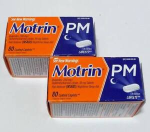 2 Boxes of Motrin PM 80 Ct 200 mg Ibuprofen Pain Reliever+ ...