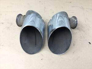 details zu porsche 911 996 3 4 sport exhaust tips oval wide factory original ep 4110 99 01