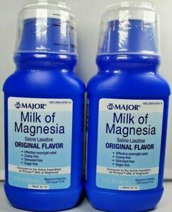 Major Milk of Magnesia Original Flavor 12oz Each -2 Pack ...
